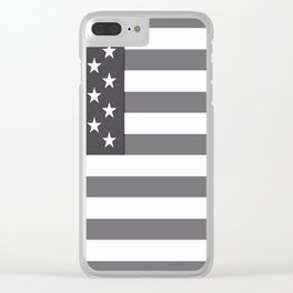Flag U.S. American United States Retro Clear iPhone Case