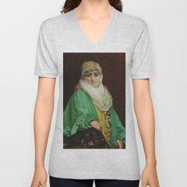 """Jean-Léon Gérôme """"Femme de Constantinople, debout"""" Unisex V-Neck"""