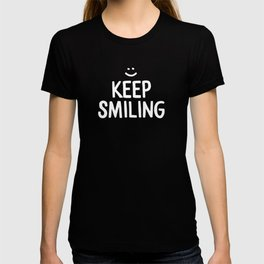 Keep Smiling Quote - Yellow T-shirt