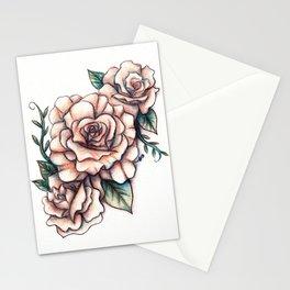 Dusky Pink Roses Stationery Cards