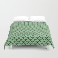 scales Duvet Covers featuring Scales by victoria negrin