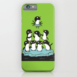 Penguin Pyramid - Green iPhone Case