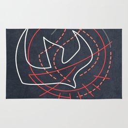 Holy Spirit minimal contemporary illustration Rug
