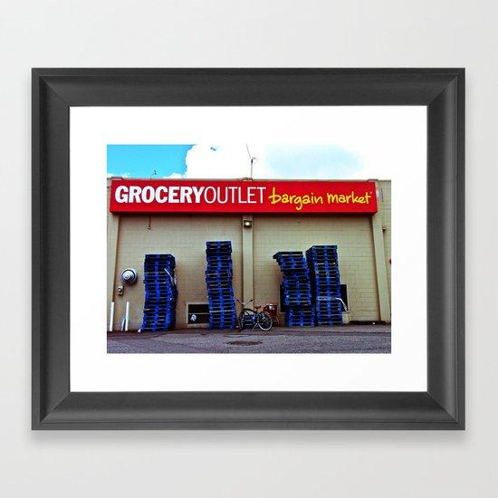 Grocery Outlet Framed Art Print