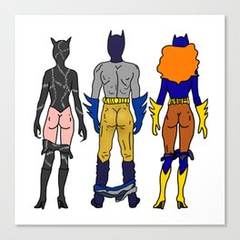 Superhero Butts Love 7 - Cat Bats Canvas Print
