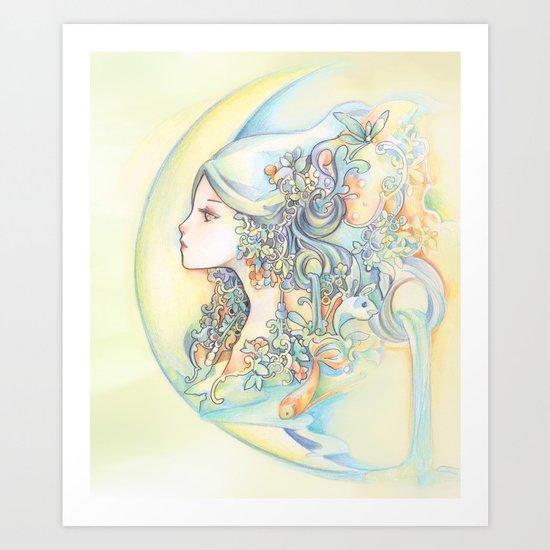 Zodiac - Aquarius Art Print