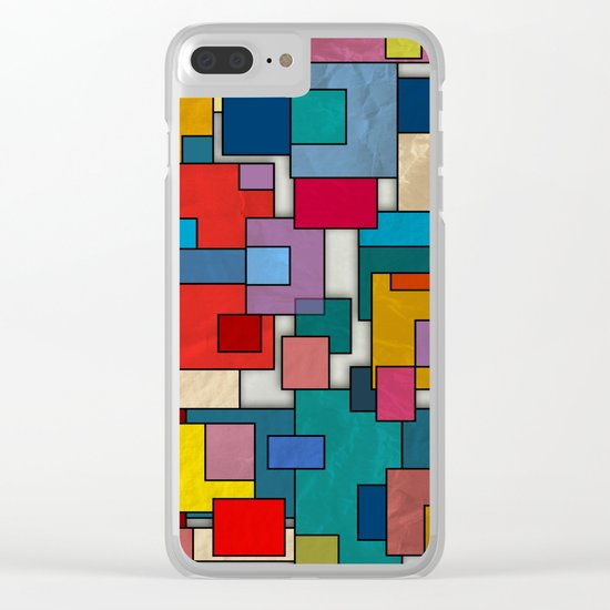 Abstract #317 Clear iPhone Case
