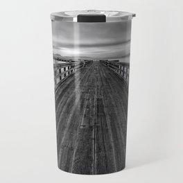 Bevan Fishing Pier - Black and White Travel Mug