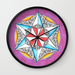 Star Paradox Zendoodle Mandala Wall Clock