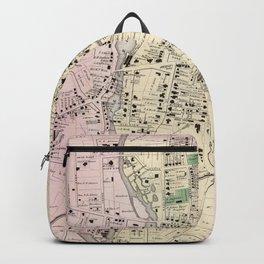 Vintage Map of Stamford CT (1867) Backpack