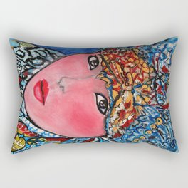 LUNA #society6 #decor #buyart My artwork is featured in MagCloud, Pink Panther Magazine, issue 25 Rectangular Pillow