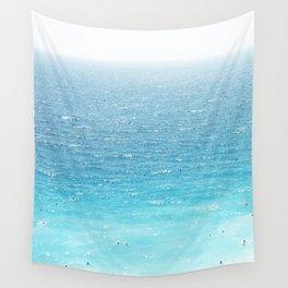 Water, Blue, Sea, Ocean, Minimal, Pattern, Modern art Wall Tapestry