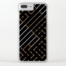 Artis 2.0, No.13 in Black & Gold Clear iPhone Case