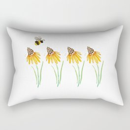 Rudbeckia & Bee Rectangular Pillow