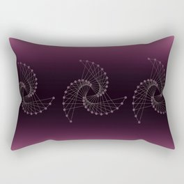 Swirl Sparkle on Burgundy Rectangular Pillow