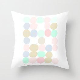 Pastel Spots Throw Pillow