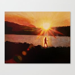 Peaceful Warrior  Canvas Print