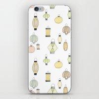 lanterns iPhone & iPod Skins featuring Lanterns by kizunina