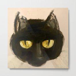 midnight kitty Metal Print