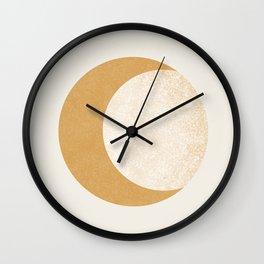 Moon Crescent - Gold Wall Clock