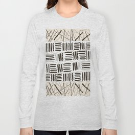 Abstract Stripe Active Wear Pattern Long Sleeve T-shirt