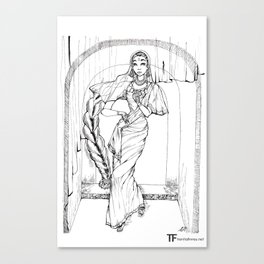 Saree Canvas Print