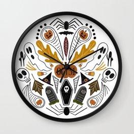 Halloween Spooky Mandala Wall Clock