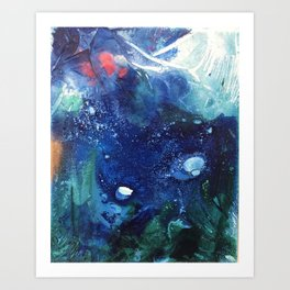 Bright Ocean Life, Tiny World Collection Art Print