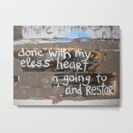 useless heart Metal Print