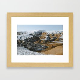 Fresh Snow in the Icelandic Highlands Framed Art Print