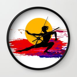 Martial art, karate, judo, aikido, self defence Wall Clock