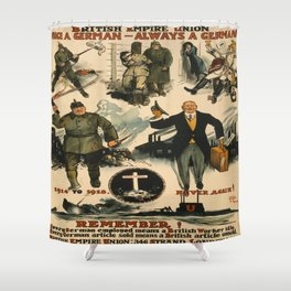 Vintage poster - Once a German Shower Curtain