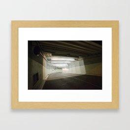 Brno Underground Garage Framed Art Print