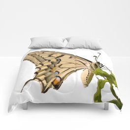 Swallowtail Butterfly Vector Isolated Comforters