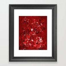 Abstract #446 Red Chaos Framed Art Print