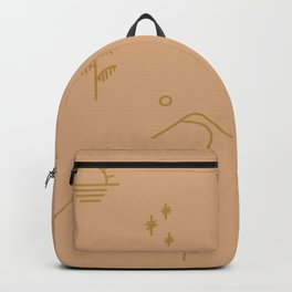 in dreams pattern – peach gold Backpack
