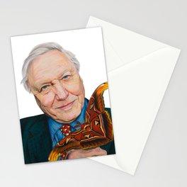 SIR DAVID ATTENBOROUGH 2015 71cm x 49cm Prismacolor & Mixed Media Stationery Cards