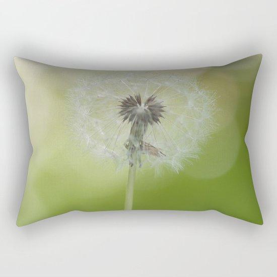 Dandelion in LOVE- Flower Floral Flowers Spring on #Society6 Rectangular Pillow