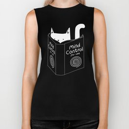 Mind Control For Cats (dark blue) Biker Tank