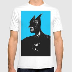 Dark Knight White MEDIUM Mens Fitted Tee