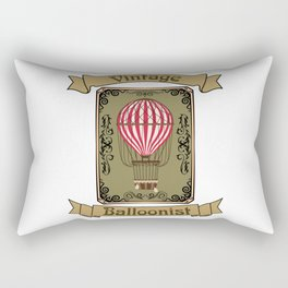 Vintage Balloonist Hot Air Balloon Pilot Ballooning Rectangular Pillow
