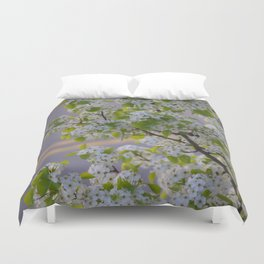 Blossoms on Third Avenue Duvet Cover