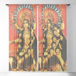 Hindu - Kali 5 Sheer Curtain