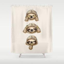 No Evil Sloth Shower Curtain