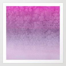 Pink Purple  Gradient Watercolor Painting Art Print