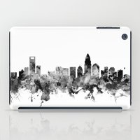 north carolina iPad Cases featuring Charlotte North Carolina Skyline by artPause