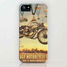 Vintage Motorcycle Show Poster iPhone Case