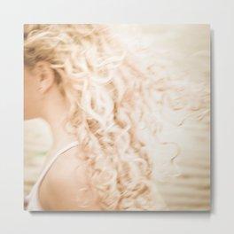 Hair wind Metal Print