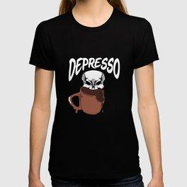 Espresso Skull Depression Skeleton Coffee Lover T-shirt