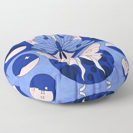 Luna Moth Phases Floor Pillow